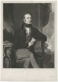Dudley Ryder, 2nd Earl of Harrowby, by Thomas Hodgetts, published by  Welch & Gwynne, published by  H.C. Burland, after  Thomas Clement Thompson, published 1 September 1837 - NPG D35543 - © National Portrait Gallery, London