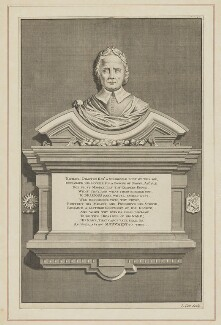 Memorial to Michael Drayton in Westminster Abbey, by James Cole - NPG D35392
