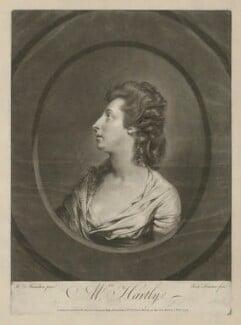 Elizabeth Hartley (née White), by Richard Houston, published by  Robert Sayer, published by  John Bennett, after  Hugh Douglas Hamilton - NPG D35549