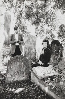 John Campbell Wells; (Gladys) Mary Wilson (née Baldwin), Lady Wilson of Rievaulx, by Lord Snowdon - NPG P845