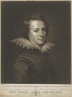 William Drummond of Hawthornden, by John Finlayson, after  Abraham van Blyenberch - NPG D35584