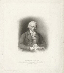 Warren Hastings, by Samuel Freeman, published by  T. Cadell & W. Davies, after  John James Masquerier - NPG D35560