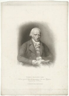 Warren Hastings, by Samuel Freeman, published by  T. Cadell & W. Davies, after  John James Masquerier - NPG D35561