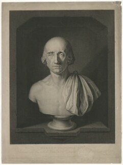 Warren Hastings, by Thomas Gaugain, published by  John Brydon, after  Simon de Koster, after  Thomas Banks - NPG D35563