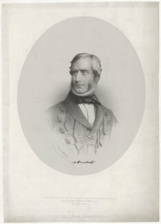 Sir Henry Havelock, Bt, by Charles Baugniet, printed by  Lemercier, published by  Ernest Gambart & Co, published by  Paul and Dominic Colnaghi & Co, published 15 October 1857 - NPG D35602 - © National Portrait Gallery, London