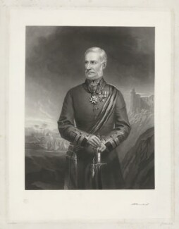Sir Henry Havelock, Bt, by J. Sinclair, after  W. Crabbe - NPG D35603