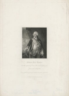 Edward Hawke, 1st Baron Hawke, by William Holl Sr, published by  Harding & Lepard, after  William Derby, after  Francis Cotes - NPG D35611