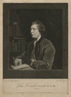 John Hawkesworth, by James Watson, published by  James Bretherton, after  Sir Joshua Reynolds - NPG D35615