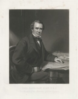 Sir John Hawkshaw, by James Faed the Elder, published by  Henry Graves & Co, after  James Edgell Collins - NPG D35620