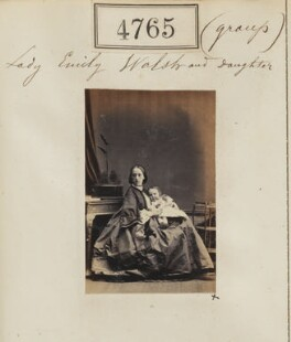 Katherine Emily Mary (née Somerset), Lady Ormathwaite; Hon. Margaret Blanche Walsh, by Camille Silvy - NPG Ax54776