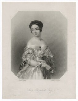 Elizabeth Wellesley (née Hay), Duchess of Wellington, by William Holl Jr, by  Francis Holl, printed by  McQueen (Macqueen), after  John Hayter, mid 19th century - NPG D35629 - © National Portrait Gallery, London
