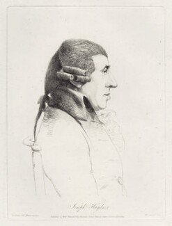 Joseph Haydn, by William Daniell, after  George Dance, published 1 July 1809 (20 March 1794) - NPG D35630 - © National Portrait Gallery, London