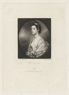 Mrs Hayes, by and published by Samuel William Reynolds, after  Sir Joshua Reynolds - NPG D35631