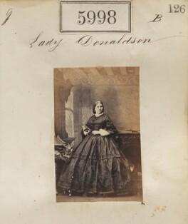 Amelia (née Cowper), Lady Donaldson, by Camille Silvy - NPG Ax55952