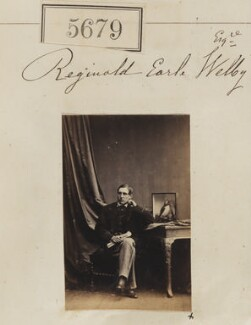 Reginald Earle Welby, Baron Welby, by Camille Silvy - NPG Ax55634