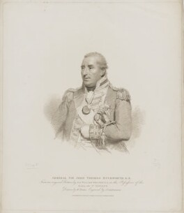 Sir John Thomas Duckworth, 1st Bt, by Giovanni Vendramini, published by  T. Cadell & W. Davies, after  William Evans, after  Sir William Beechey - NPG D35595