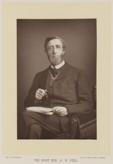 Arthur Wellesley Peel, 1st Viscount Peel, by W. & D. Downey, published by  Cassell & Company, Ltd - NPG Ax15990