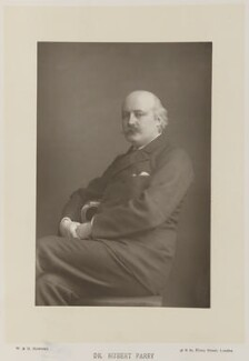 Sir (Charles) Hubert Hastings Parry, 1st Bt, by W. & D. Downey, published by  Cassell & Company, Ltd - NPG Ax16164