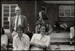 Kingsley Amis; Martin Amis; Pat Kavanagh; Julian Patrick Barnes, by Angela Gorgas - NPG x133035