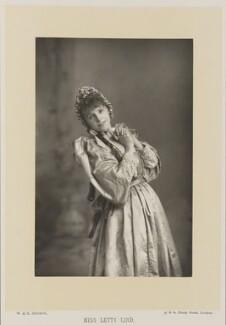 Letty Lind (Letitia Elizabeth Rudge) as Cinderella, by W. & D. Downey, published by  Cassell & Company, Ltd - NPG Ax27912