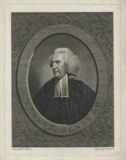 Robert Henry, by James Caldwall, after  David Martin - NPG D35641