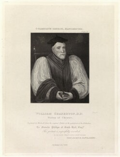 William Chaderton, by Thomas Woolnoth, published by  Agnew & Zanetti - NPG D35663