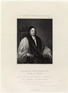 Nicholas Stratford, by James Thomson (Thompson), published by  Agnew & Zanetti - NPG D35664