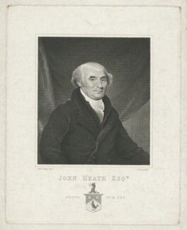 John Heath, by James Stow, after  Michael William Sharp - NPG D35655