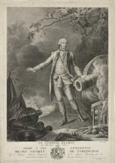 George Augustus Eliott, 1st Baron Heathfield ('Le Général Elliot'), by Martin, after  Pierre de Glimes - NPG D35662