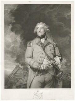 George Augustus Eliott, 1st Baron Heathfield, by Richard Earlom, published by  John Boydell, published by  Josiah Boydell, after  Sir Joshua Reynolds - NPG D35669