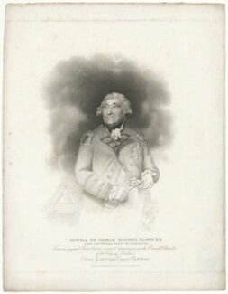 George Augustus Eliott, 1st Baron Heathfield, by William Bond, published by  T. Cadell & W. Davies, after  George Francis Joseph, after  Sir Joshua Reynolds - NPG D35670