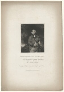 George Augustus Eliott, 1st Baron Heathfield, by John Henry Robinson, published by  Harding & Lepard, after  William Derby, after  Sir Joshua Reynolds - NPG D35671