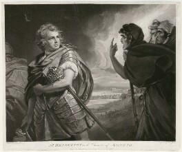 John Henderson ('Mr. Henderson in the Character of Macbeth'), by and published by John Jones, after  George Romney - NPG D35690