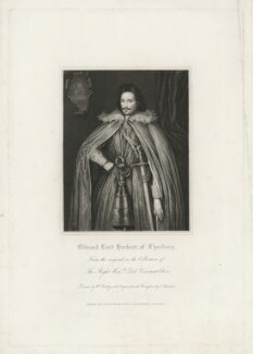 Edward Herbert, 1st Baron Herbert of Cherbury, by James Thomson (Thompson), published by  Harding, Triphook & Lepard, after  William Derby - NPG D35701