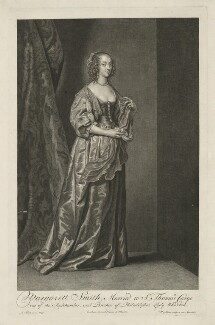 Margaret (née Smith), Lady Herbert, by and published by Pieter Stevens van Gunst, after  Sir Anthony van Dyck - NPG D35703