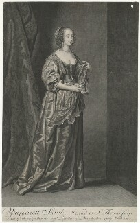 Margaret (née Smith), Lady Herbert, by Pieter Stevens van Gunst, after  Sir Anthony van Dyck - NPG D35704