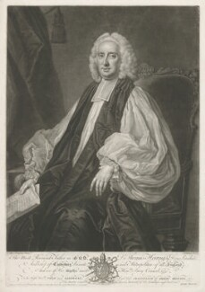Thomas Herring, by John Faber Jr, published by  Thomas Bowles Jr, published by  John Bowles, published by  Carington Bowles, probably after  Thomas Hudson - NPG D35720