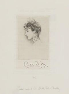 Rachel (née Gurney), Countess of Dudley, by Frederick John Jenkins, after  Violet Manners, Duchess of Rutland - NPG D35599