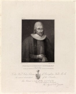 Humphrey Chetham, by Charles Pye, published by  Agnew & Zanetti, after  Henry Wyatt - NPG D35804
