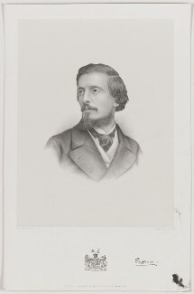 Frederick Temple Hamilton-Temple-Blackwood, 1st Marquess of Dufferin and Ava, by Charles William Walton, published by  Morris & Co - NPG D35777