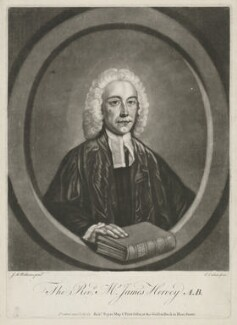 James Hervey, by Richard Purcell (H. Fowler, Charles or Philip Corbutt), printed and published by  Robert Sayer, after  John Michael Williams - NPG D35739