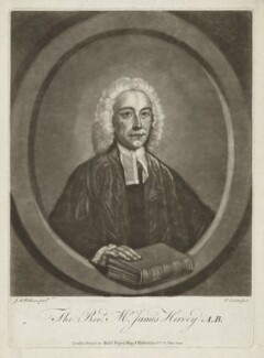 James Hervey, by Richard Purcell (H. Fowler, Charles or Philip Corbutt), printed and published by  Robert Sayer, after  John Michael Williams - NPG D35740