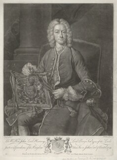 John Hervey, Baron Hervey of Ickworth, by John Faber Jr, published by  Bowles & Carver, after  Jean Baptiste van Loo - NPG D35743