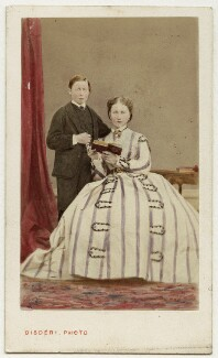 Prince Leopold, Duke of Albany; Princess Louise Caroline Alberta, Duchess of Argyll, by Disdéri, November 1866 - NPG Ax46787 - © National Portrait Gallery, London