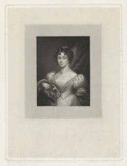 Barbara Rawdon Hastings (née Yelverton), Marchioness of Hastings, by Thomas Anthony Dean, after  Emma Eleanora Kendrick, published October 1828 - NPG D35753 - © National Portrait Gallery, London