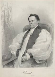 William Higgin, by James Henry Lynch, printed by  Day & Son, after  James Mitchell Cox - NPG D35766