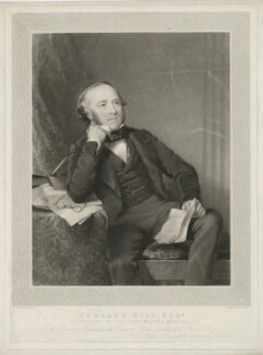 Sir Rowland Hill, by William Overend Geller, printed by  S.H. Hawkins, published by and after  Abraham Wivell Jr - NPG D35835