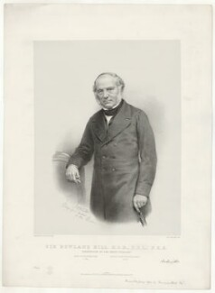 Sir Rowland Hill, printed by M & N Hanhart, published by  John Alfred Vinter, after  Maull & Fox - NPG D35837