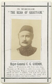 Charles George Gordon, after Unknown photographer - NPG x36105