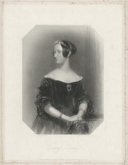 Juliana Cavendish Duncan-Haldane (née Philips) Countess of Camperdown when Viscountess Duncan, by William Henry Egleton, after  Frank Stone - NPG D35792